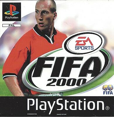 FIFA 2000 for Playstation 1 PS1 - PAL - Platinum Edition
