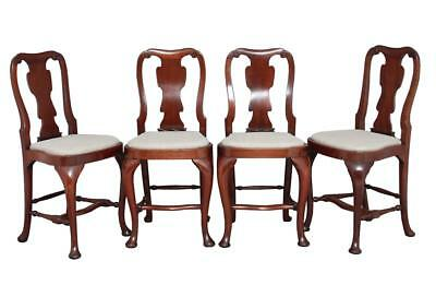 SET OF FOUR 1920's MAHOGANY QUEEN ANNE DESIGN BAR STOOLS