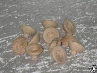 10 Wood grommets for Pyramid Advent candlestick Spouts 33mm