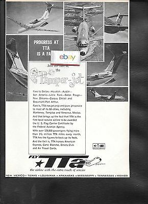 Tta Trans Texas Dc-9 Pamper Jets The Airline With The Extra Touch Of Service Ad