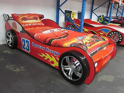 """""""THE EXTREME RACER"""" Car Bed with Head Lights [Red]"""