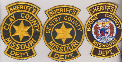 Boone & Gentry County MO Sheriff Dept patches