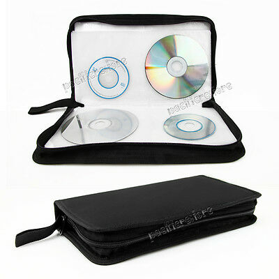 80 DISC CD Bag Black Holder DVD Case Storage Wallet Oxford fabric Surprise Gift