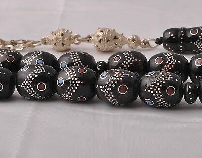 Prayer beads-Black Coral worry beads, komboloi-Tasbih