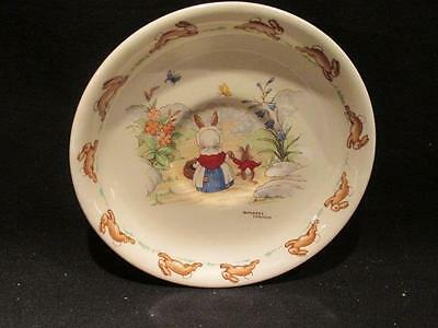Barbara Vernon Signed Vintage Bunnykins Saucer Doulton A Mark On the Path