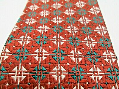 Vintage Men's Neck Tie ARROW Made in USA Fabric Imported Green Red White Plaid