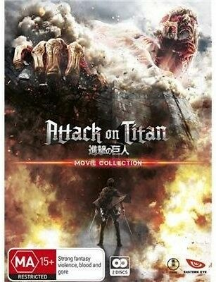 Attack On Titan Movie Collection - 2 DISC SET (2016, Blu-ray New)