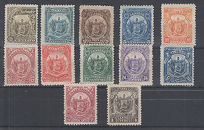 Salvador Sc 117-128 MLH. 1895 Coat of Arms complete