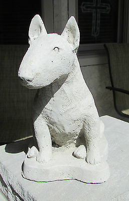 Concrete Bull Terrier Statue Or Use As A Monument