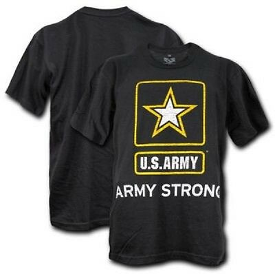 United States U.S. ARMY STRONG Military US Graphic Single Tee shirt black XXL