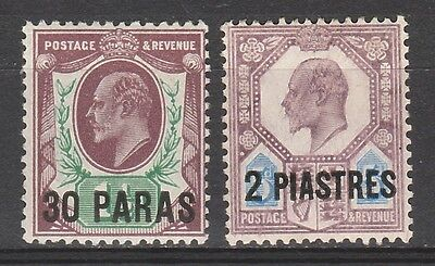 British Levant 1911 Kevii 30Pa And 2Pi