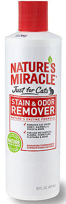 NATURE'S MIRACLE - Just for Cats Stain & Odor Remover - 16 fl. oz. (473 ml)