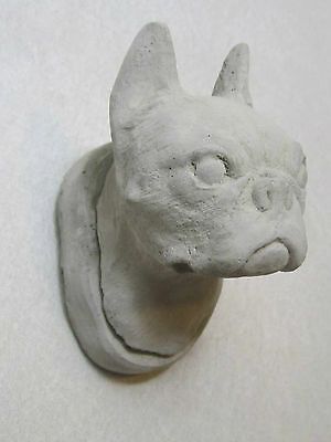 Concrete Boston Terrier Statue Wall Hanger