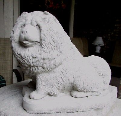 Concrete Chow  Chow Dog Statue Or Use As A Monument