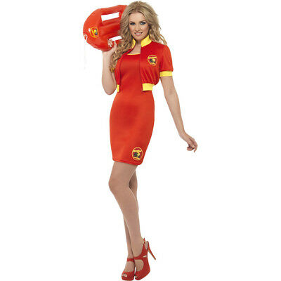 Baywatch Ladies Fancy Dress Swimming Costume Lifeguard Swimwear