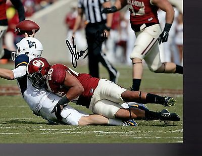 Jordan Evans Oklahoma Sooners Signed 8X10 Photo W/coa #3