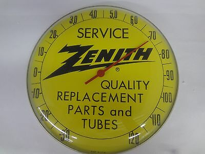 "Vintage Zenith 10"" Round Advertising Thermometer  Excellent Cond  101-Y"