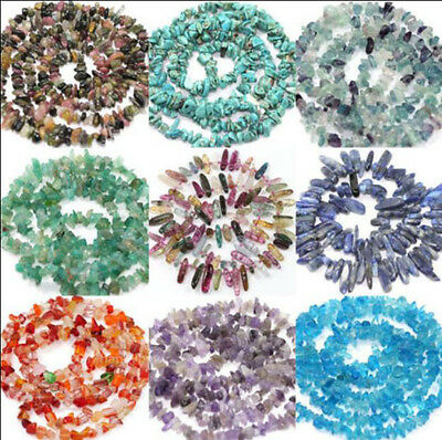 50PCS Natural Stone Semi Precious Chip Drilled Tumble Beads Jewelry DIY