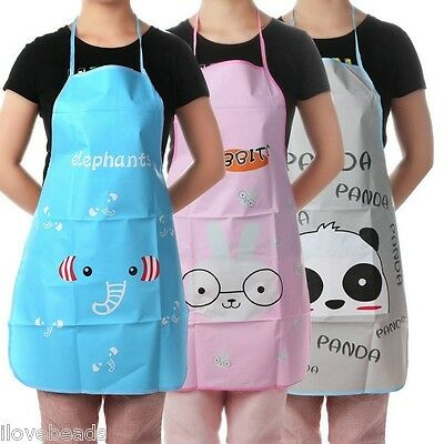 Funny Cartoon Restaurant Household Kitchen Aprons Waterproof Anti-oil Cooking
