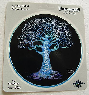 WINDOW STICKER - CELTIC TREE OF LIFE - DECAL 115mm Wicca Witch Pagan