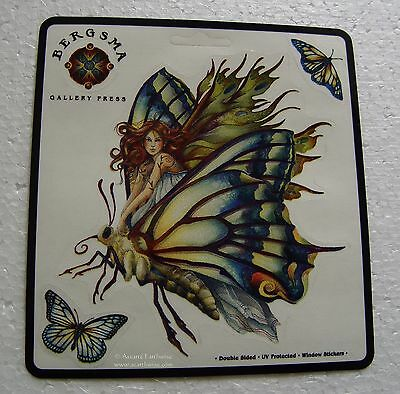 WINDOW STICKER - CHRYSALIS FAIRY BUTTERFLY - DECAL 115mm Wicca Witch Pagan