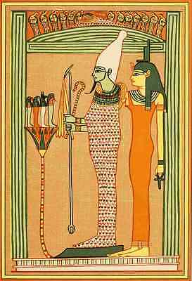 A4 Photo The Gods of the Egyptians 1904 Osiris & Isis Print Poster