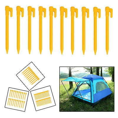 5/10/20/30pcs HEAVY DUTY DURABLE PLASTIC PEGS HOOKS GROUND STAKES TENT CAMPING