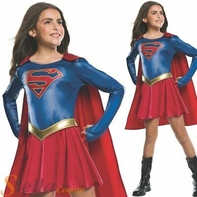 Girls Supergirl TV Series Costume Superhero Fancy Dress Adult Outfit