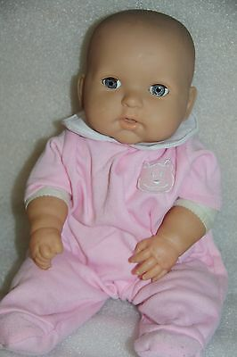 BERENGUER DOLL  BABY DOLL LIFE-LIKE FACE eyes move good used baby doll & clothes