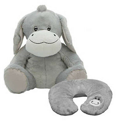New Cozy Time Donkey Funky Travel Pal Child's Neck Support Cushion & Soft Toy