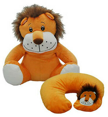 New Cozy Time Lion Funky Travel Pal Child's Neck Support Cushion & Soft Toy