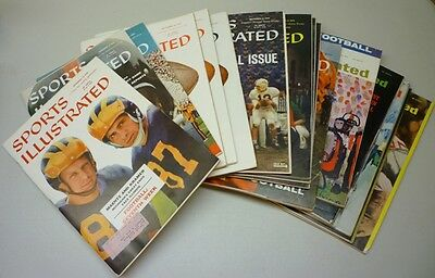1950's/60's Lot of 20 Sports Illustrated Football Magazines
