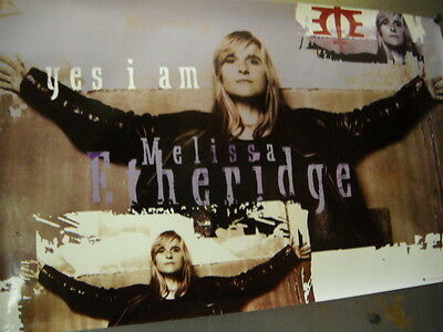 MELISSA ETHERIDGE Large 1993 PROMO POSTER from Yes I Am mint condition