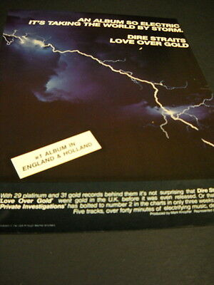 DIRE STRAITS Love Over Gold is #1 in England & Holland Promo Display Ad mint