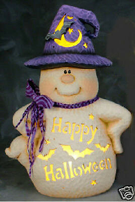 Ceramic Bisque Ready to Paint Happy Halloween Ghost~electric included