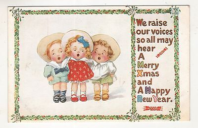 children postcard england greetings
