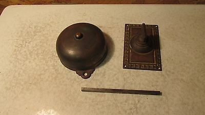 1899 Corbin Coppetone Japanned Finish Victorian Door Bell