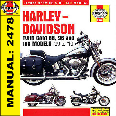 Harley Davidson Dyna Softail Scivolo Electra Glide 99-10 Manuale Haynes 2478