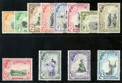 Swaziland 1961 QEII set complete very fine used. SG 78-89. Sc 80-91.