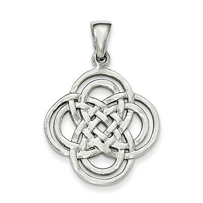 .925 Sterling Silver Flat Back Intertwined Celtic Pendant