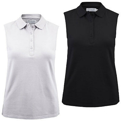 43% OFF RRP Proquip Golf Ladies Charlotte Sleeveless Cotton Pique Polo Shirt