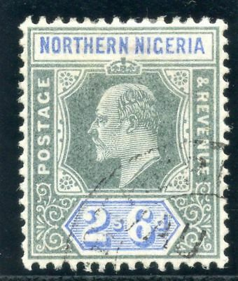 Northern Nigeria 1902 KEVII 2s 6d green & ultramarine very fine used. SG 17.