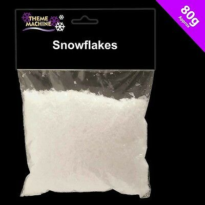 CHRISTMAS SNOWFLAKES ARTIFICIAL FAKE SNOW 80g BAG DECORATION DISPLAY TRAIL 54681