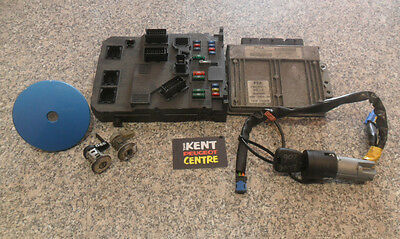 Peugeot 206 1.4 8V Kfw Petrol Engine Ecu Kit & Lock Set 9644235680 9645747480