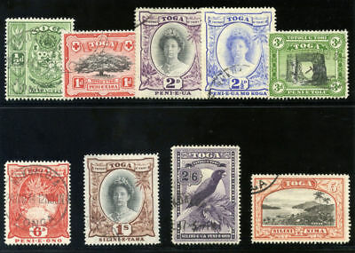 Tonga 1942 KGVI set complete very fine used. SG 74-82. Sc 73-81.