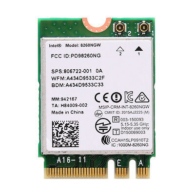 Intel Dual Band Wireless-AC 8260 Wifi Card NGFF With Bluetooth 4.0 8260NGW