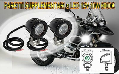 COPPIA FARI FARETTI SUPPLEMENTARI LED 12V 10W 6000K per BMW R1200 GS ADVENTURE