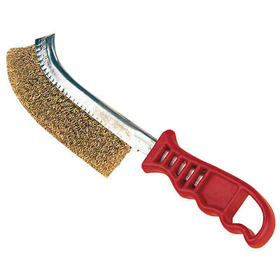 Wire Brush Rust Paint Remover Red Handle Heavy Duty