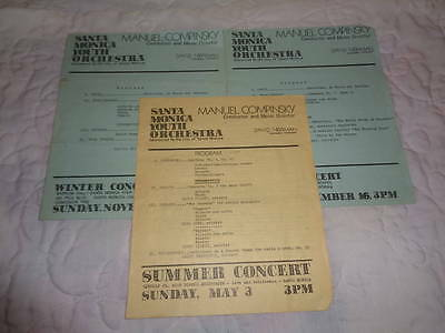 Santa Monica Youth Orchestra 1980s Programs Manuel Compinsky Conductor