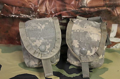2 ACU DIGITAL MOLLE II FRAG GRENADE POUCHES LIGHTLY USED SET